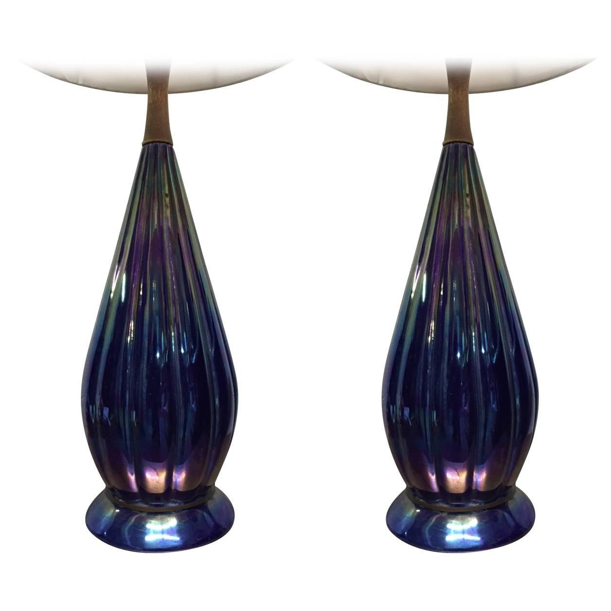 pair colorful glass lamps for sale at 1stdibs. Black Bedroom Furniture Sets. Home Design Ideas