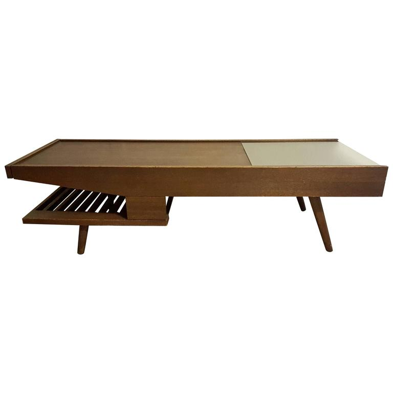 Mid Century Coffee Table John Keal For Brown Saltman At: Rare John Keal For Brown Saltman Coffee Table At 1stdibs