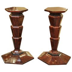 Pair of Art Deco Pedestals in Walnut, circa 1930s
