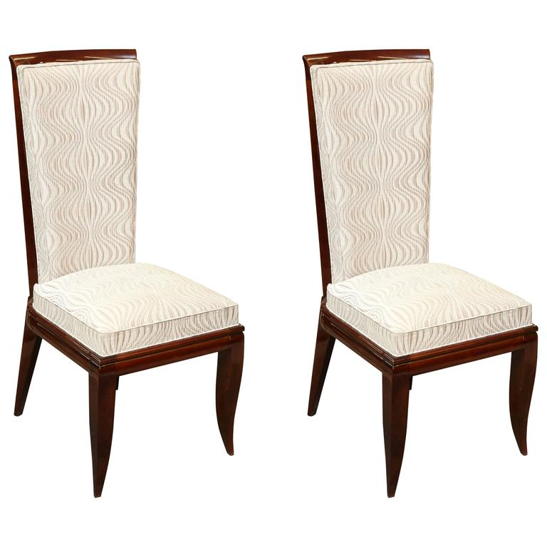 pair of art deco dining room chairs for sale at 1stdibs