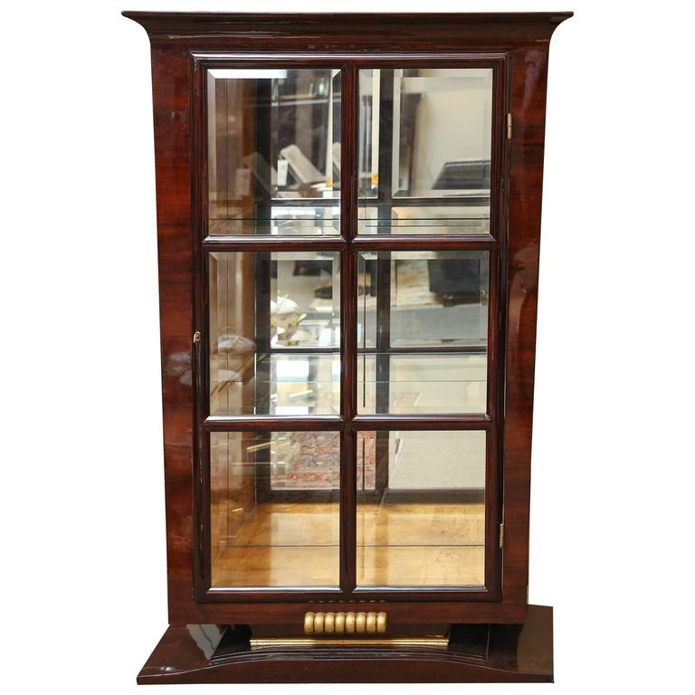 art deco vitrine for sale at 1stdibs. Black Bedroom Furniture Sets. Home Design Ideas