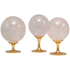Group of Three Rock Crystal Balls