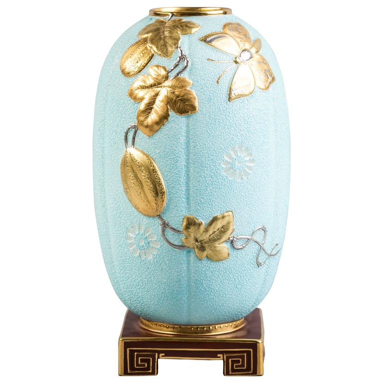 English Porcelain Aesthetic Movement Vase Circa 1880 For Sale At