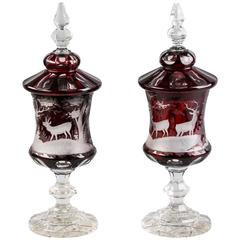 Pair of Bohemian Covered Pokals, circa 1890