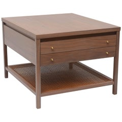Greige Walnut Side Table by Paul McCobb for Calvin