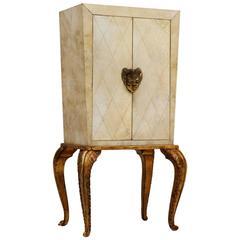 Maison Jansen Rare Cabinet with Parchment