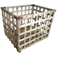 Industrial Wooden, Wheeled Cart from the Factory Floor