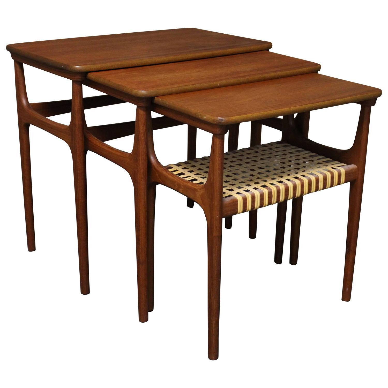Heltborg Mobler Danish Teak Nesting Tables For Sale At 1stdibs