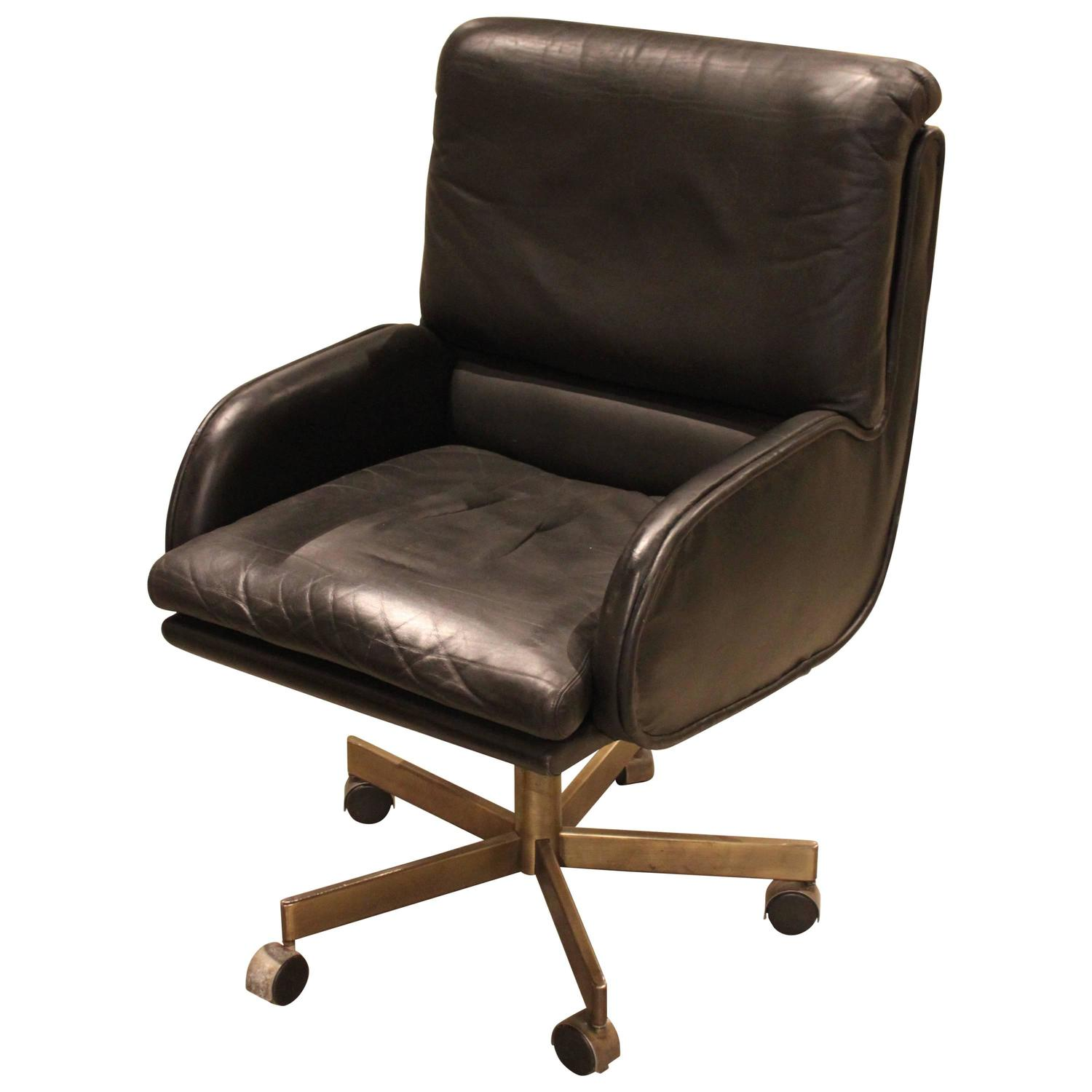 beautiful vintage leather desk chair at 1stdibs