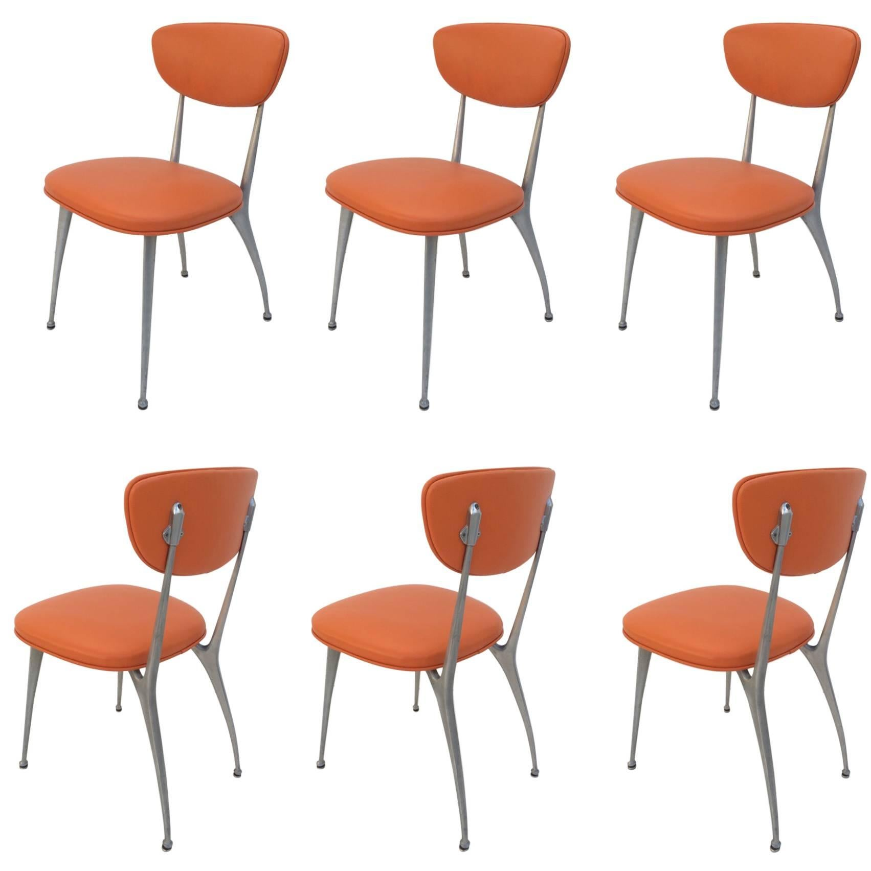 "Set of Six ""Gazelle"" Dining Chairs by Shelby Williams"