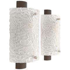 Pair of Kalmar Glass Sconces, 1960s