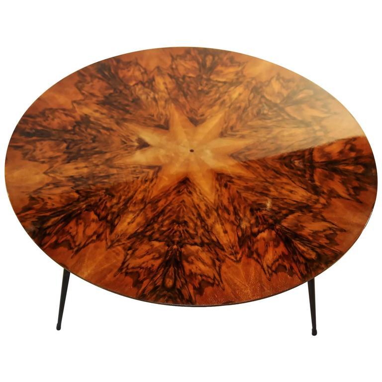 Mid Century Walnut Veneer Coffee Table At 1stdibs