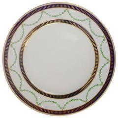 12 Royal Crown Derby Porcelain Dinner Plates
