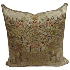 Magnificent Embroidered Pillows, Scalamandre Fabric