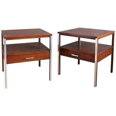 Pair of Walnut Side Tables by Paul McCobb for Calvin