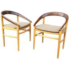 Danish Modern Barrel Back Chairs by Brockmann Petersen for Poul Jeppesen