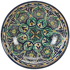 Early 20th Century Morocco Fez Ceramic Dish