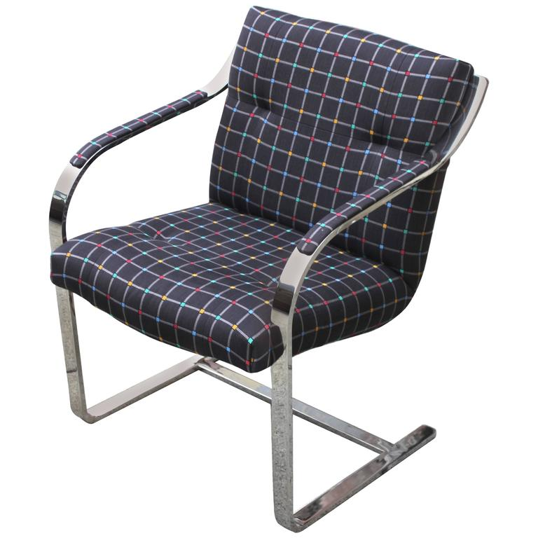 Polished Stainless Steel Brueton Chairs 1