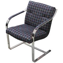 Polished Stainless Steel Brueton Chairs