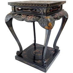 19th Century Japanese Meiji Lacquer Stand or Side Table