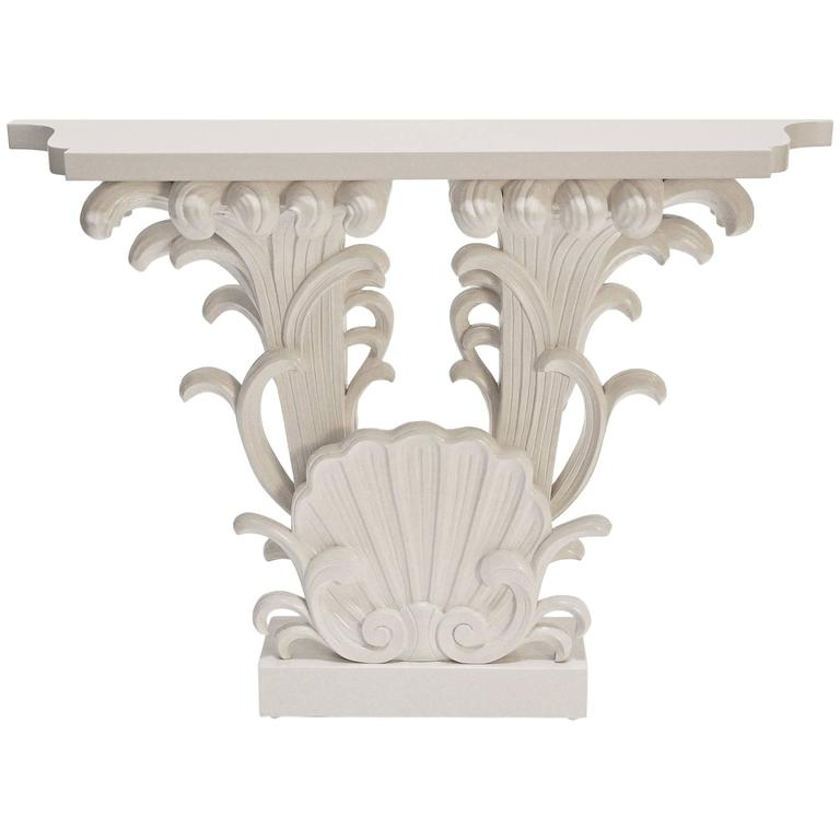 Grosfeld House, Carved and Lacquered Wood Console, 1942 For Sale