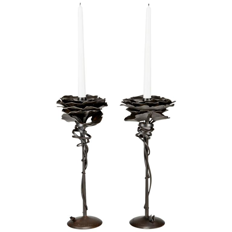 Gingko Candleholders by Albert Paley