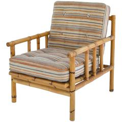 Midcentury Bamboo Club Chair