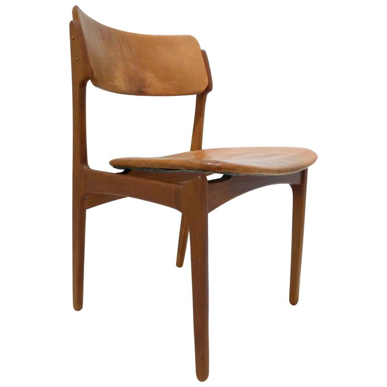 Erik Buck Teak and Leather Chair