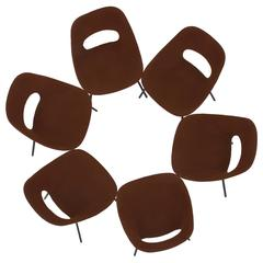 Set of Six Pierre Guariche and Steiner Tulip Dining Chairs