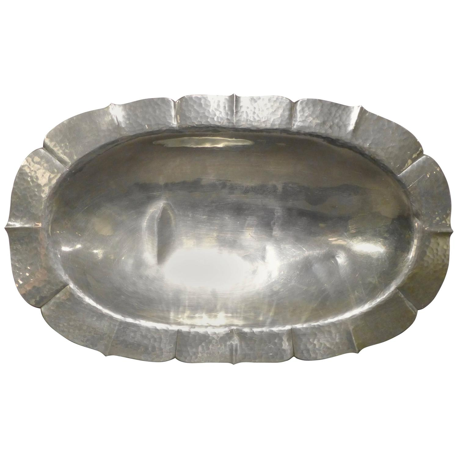 Porter Blanchard Pewter Charger For Sale At 1stdibs