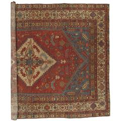 Antique Persian Serapi Carpet