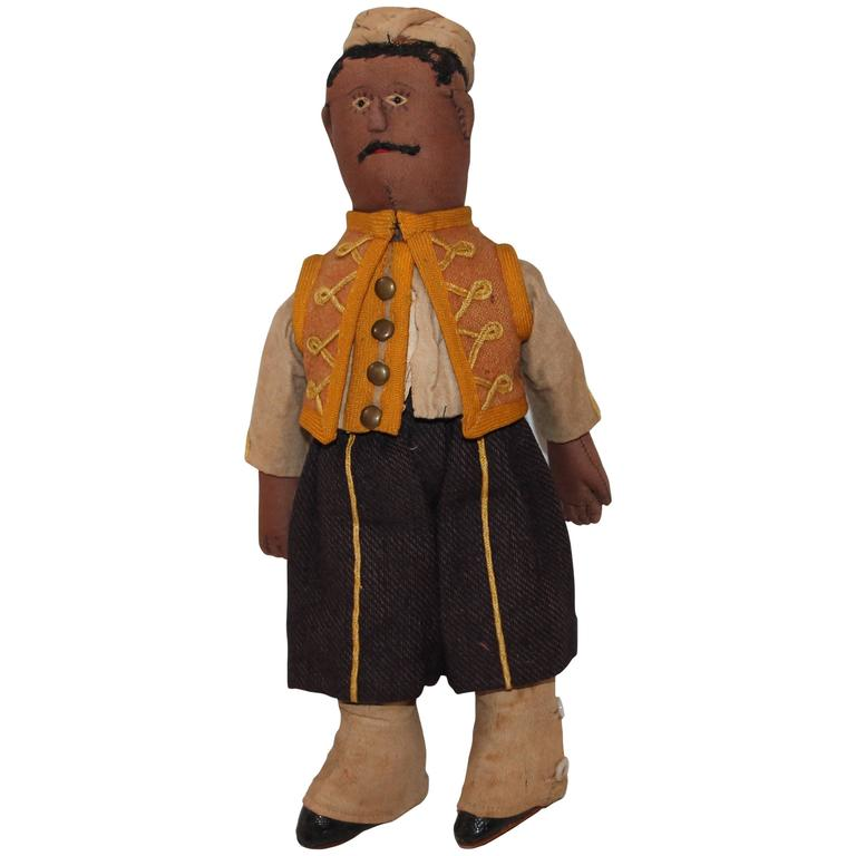 19th Century Folky West Indian Soldier Rag Doll