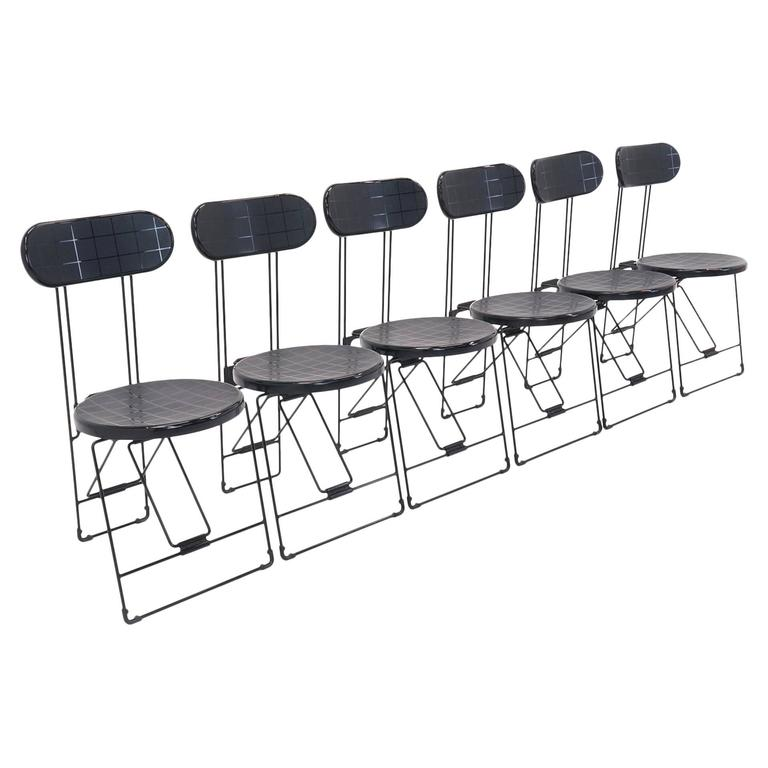 Set Of 6 Cricket Folding Chairs By Andries Van Onck U0026 Kazuma Yamaguchi For  Magis For