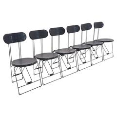 Set of 6 Cricket Folding Chairs by Andries Van Onck & Kazuma Yamaguchi for Magis