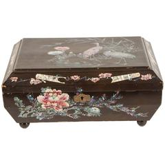 Japanese Lacquer Box with Mother-of-Pearl Inlay