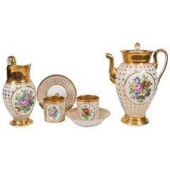 Demitasse Set Antique Paris Porcelain Made in France circa 1830