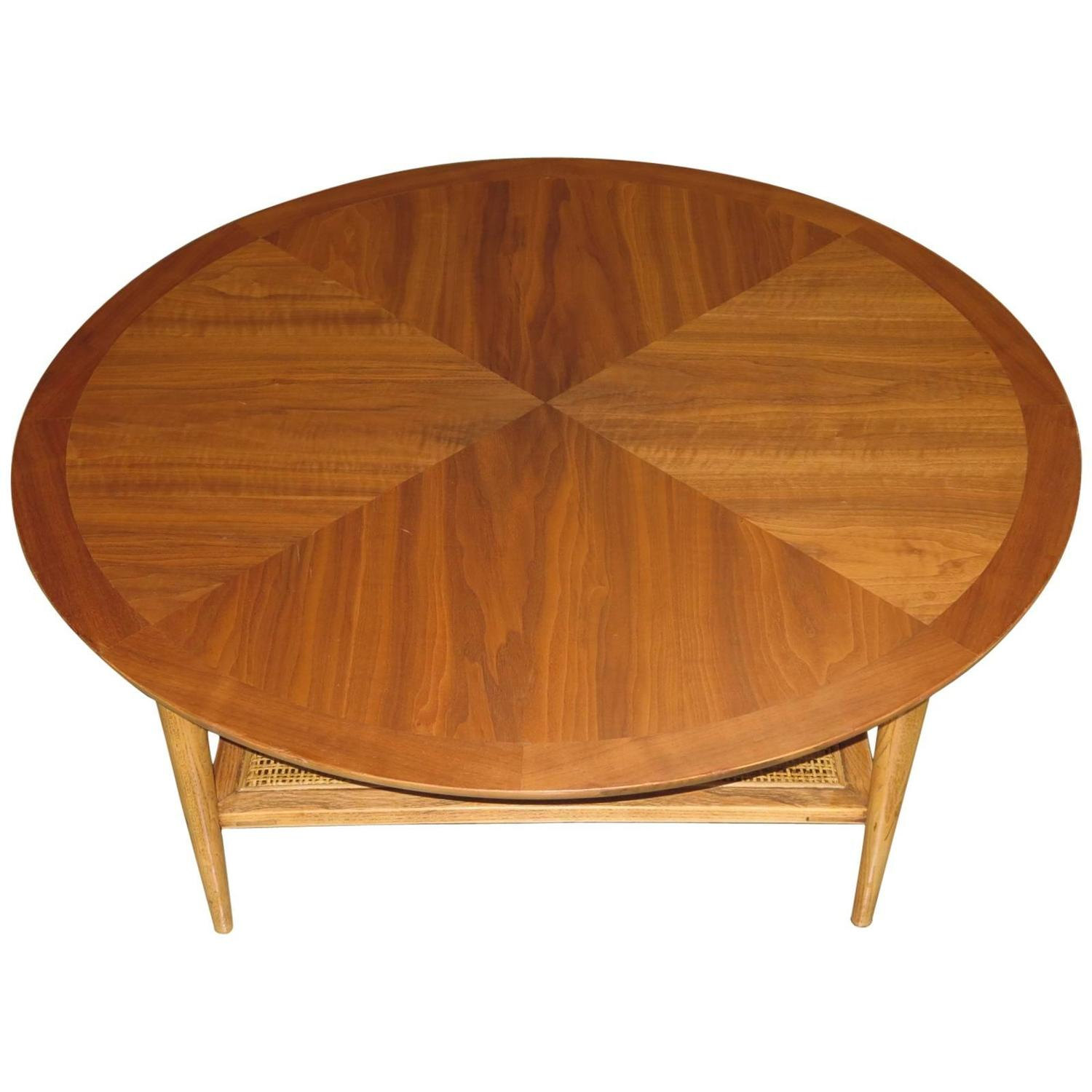 Lane Switchblade Coffee Table: Round Coffee Table By Lane At 1stdibs