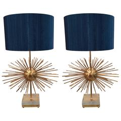 Pair of Big Sputnik Lamps