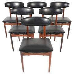 Set of Six Kofod-Larsen Style Rosewood Dining Chairs