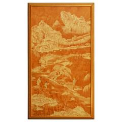 20th Century Chinese Painted Panel