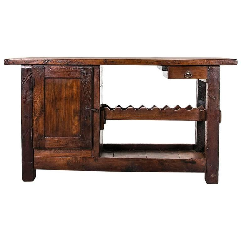 Wooden Bench As A Console Table ~ Rustic antique french carpenter s work bench or console