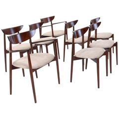 Set of Eight Rosewood Harry Ostergaard Dining Chairs in Near Mint Condition