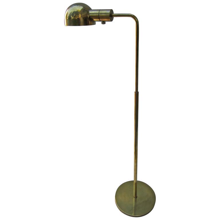Casella Brass Adjustable Floor Lamp