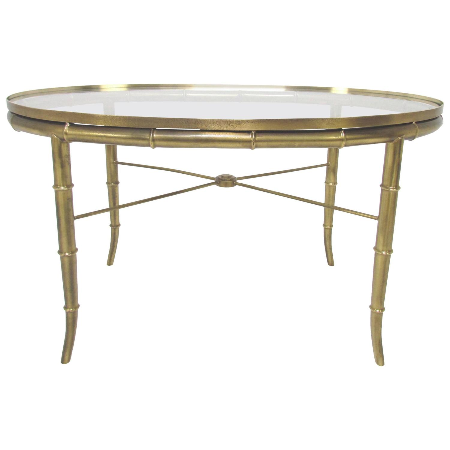 Hollywood regency italian brass coffee or cocktail table for Cocktail tables