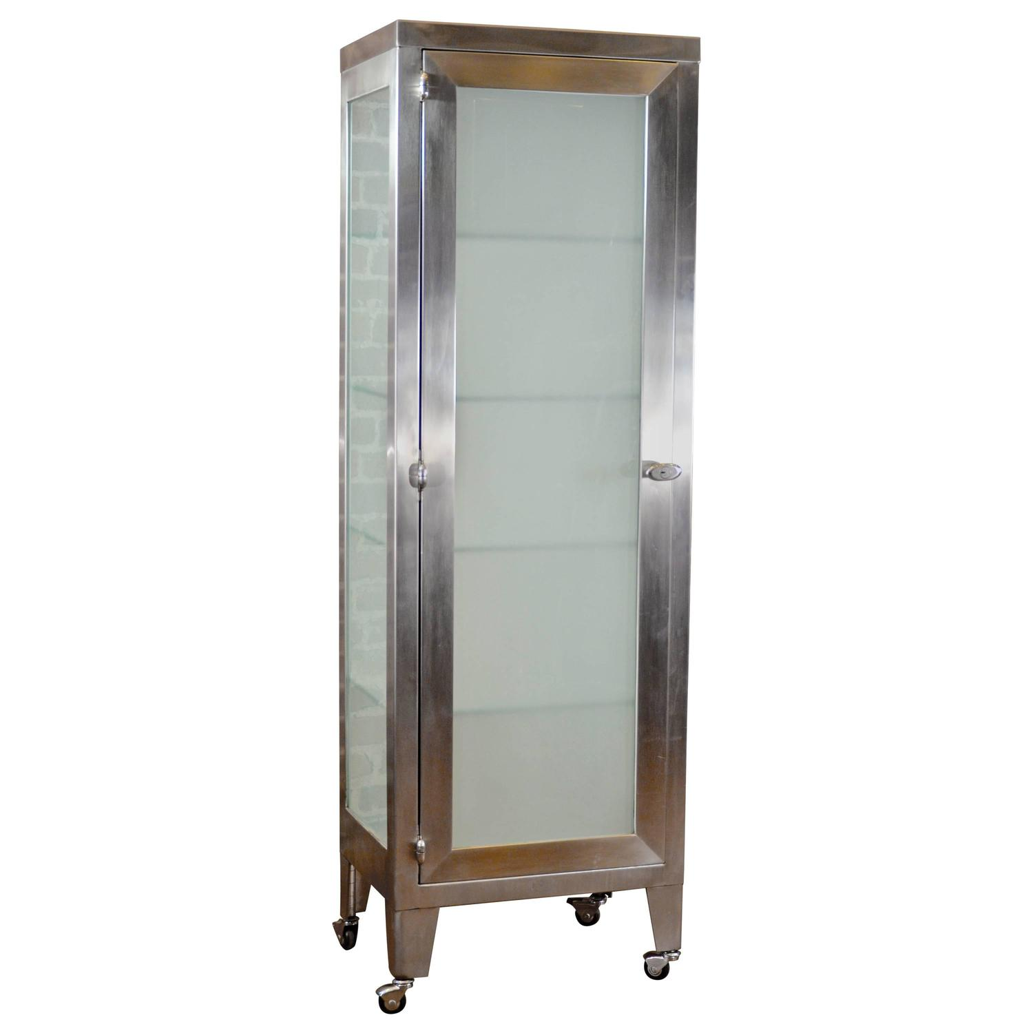 Stainless Steel Medical Cabinet at 1stdibs