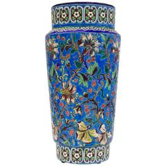 Longwy Pottery Vase, Signed