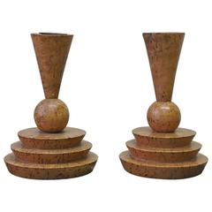 Pair of German Expressionist Candlesticks