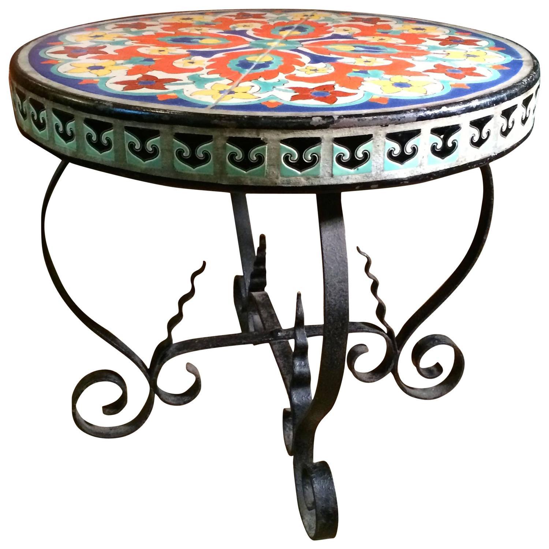 arts and crafts tile table at 1stdibs. Black Bedroom Furniture Sets. Home Design Ideas