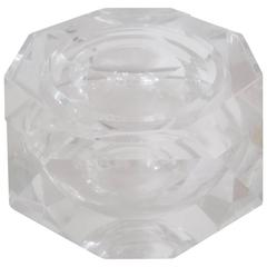 Vintage Lucite Octagonal Ice Bucket or Box