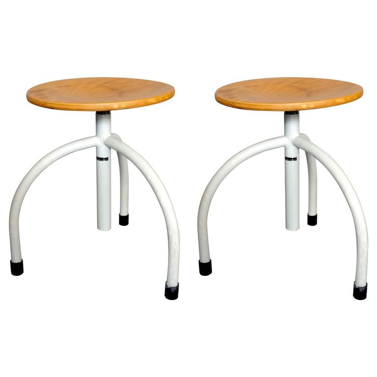 Pair of Work Stools by Cor Alons 1
